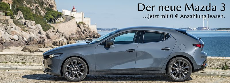 Mazda3 Leasing-Aktion bis 31.08.19