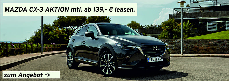Mazda CX-3 Leasing-Aktion ohne Anzahlung